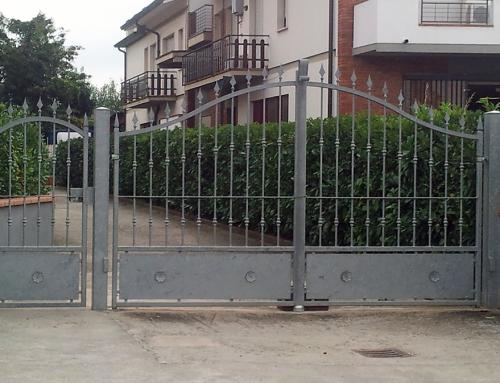 Cancello in ferro battuto zincato metallica srl - Cancelli x finestre ...